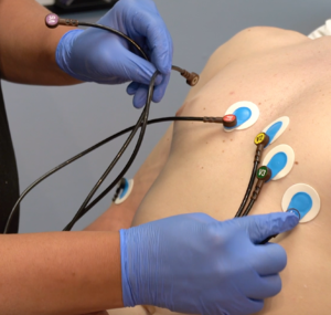 Adhere electrodes first, then attach lead wires